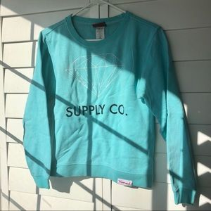 Diamond Supply Co. Blue Crewneck